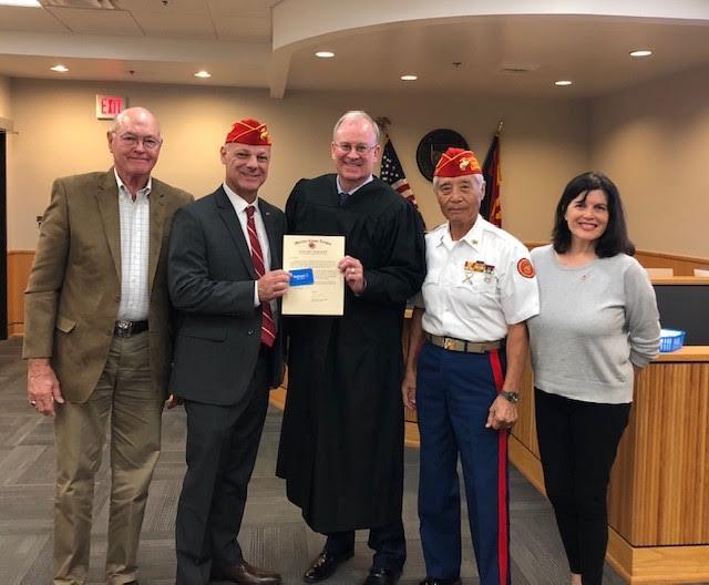 Marine Corps League/Veterans' Court